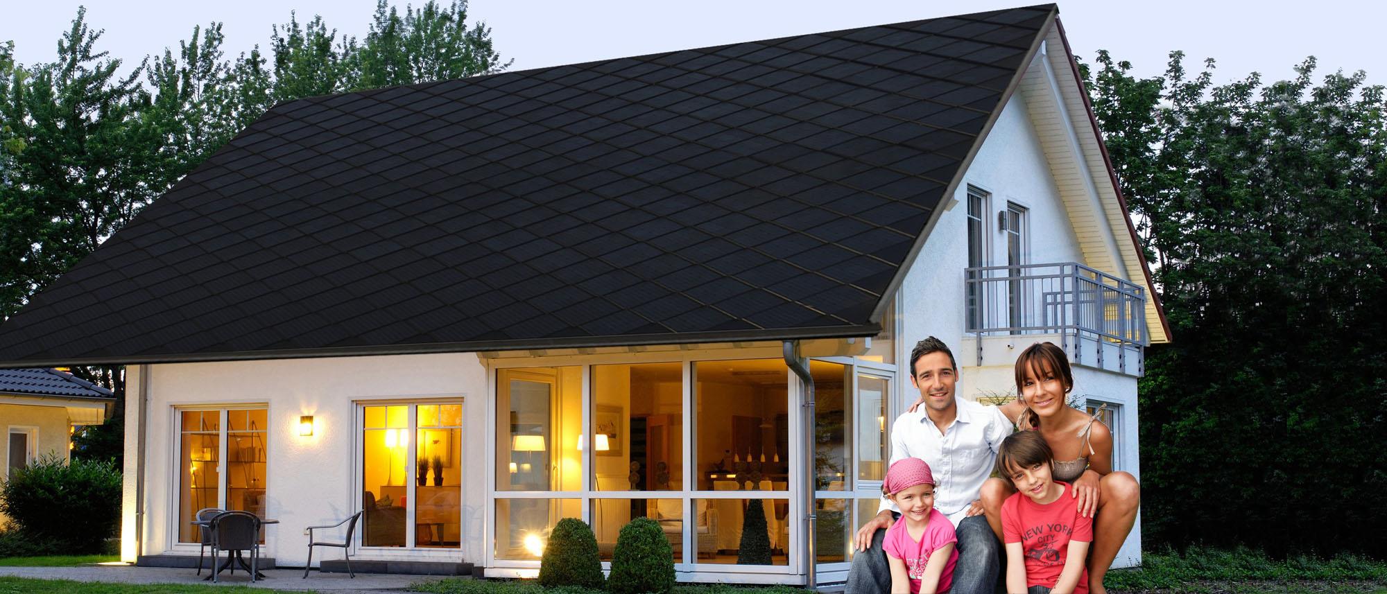dachpfannen dachziegel mit photovoltaik solarenergie. Black Bedroom Furniture Sets. Home Design Ideas